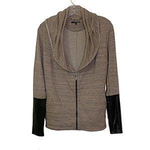Astars Shawl Collar Zip-Up Sweatshirt Jacket S
